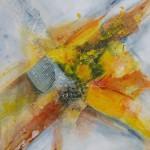 """""""Ein Hauch des gelben Engels"""", Acryl auf Leinwand, 80 x 80 cm"""