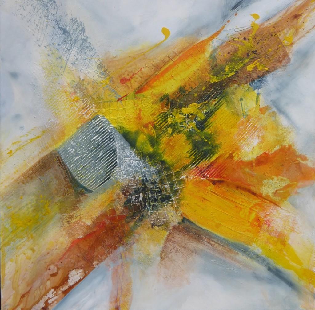 """80 cm x 80 cm Acryl auf Leinwand """"Ein Hauch des gelben Engels"""""""
